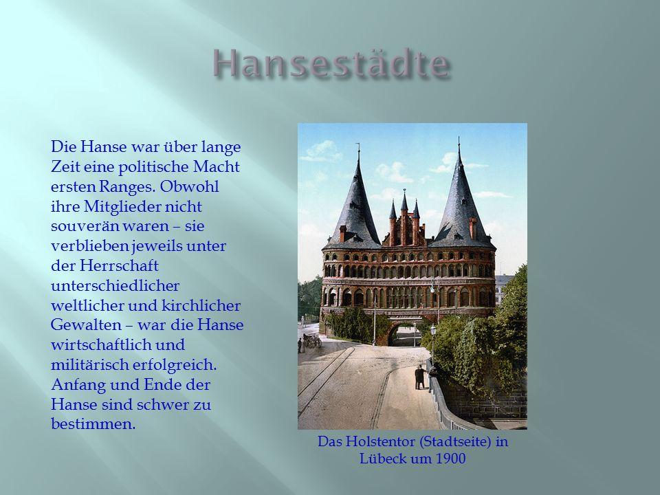 Im 14.Jahrhundert war Lübeck neben Köln und Magdeburgeine der größten Städte des Reiches.