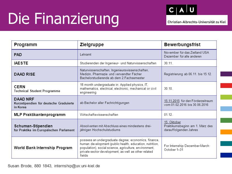 http://www.international.uni-kiel.de/de/praktikum-im-ausland Susan Brode, 880 1843, internship@uv.uni-kiel.de