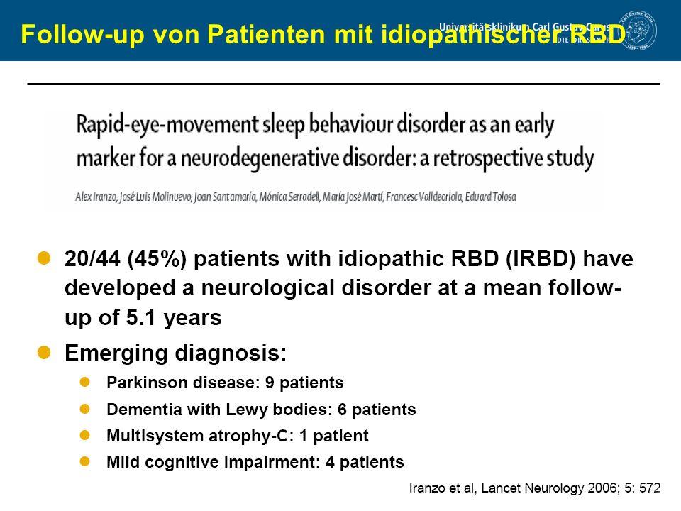 www.uniklinikum-dresden.de Follow-up von Patienten mit idiopathischer RBD
