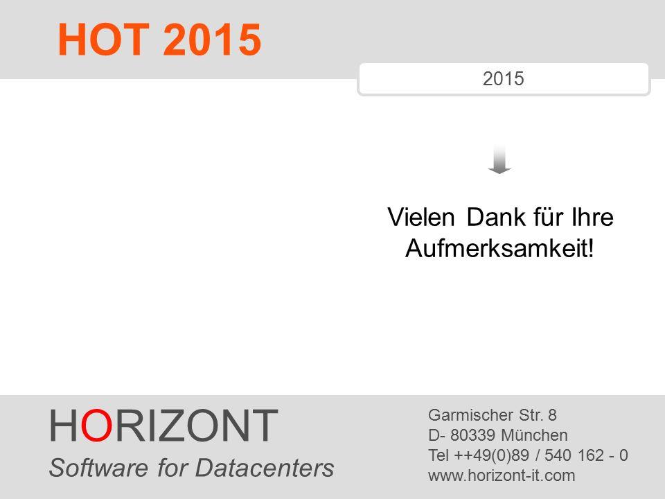 HORIZONT 11 Vielen Dank für Ihre Aufmerksamkeit.HORIZONT Software for Datacenters Garmischer Str.