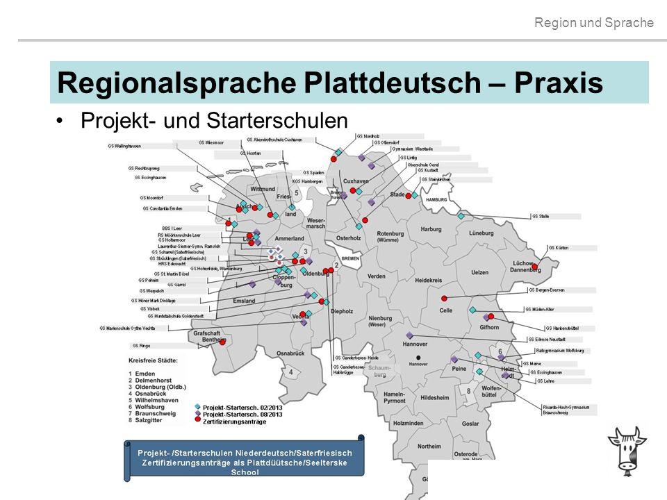 Regionalsprache Plattdeutsch – Praxis Projekt- und Starterschulen