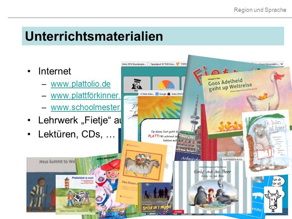 """Region und Sprache Internet –www.plattolio.dewww.plattolio.de –www.plattförkinner.dewww.plattförkinner.de –www.schoolmester.de einschließlich """"Röög di"""