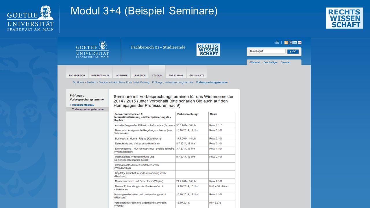 Modul 3+4 (Beispiel Seminare)