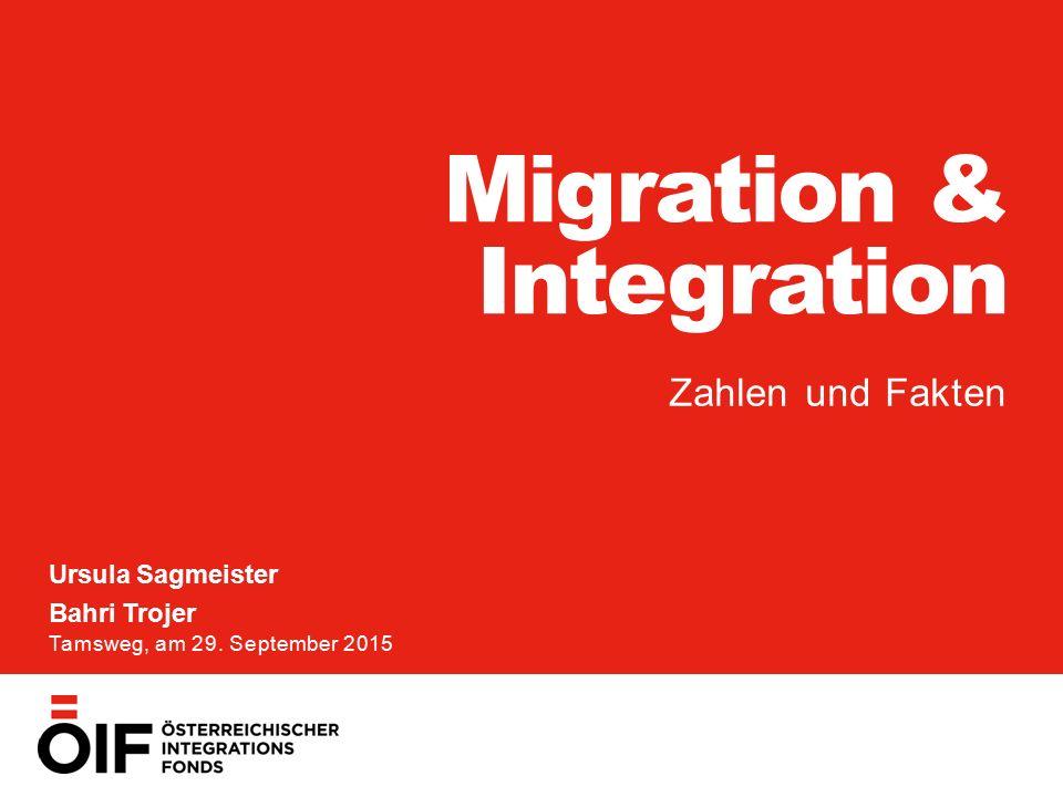 MIGRATION & INTEGRATION Ursula Sagmeister, Bahri Trojer 29. September 2015 1 SEITE Migration & Integration Zahlen und Fakten Ursula Sagmeister Bahri T