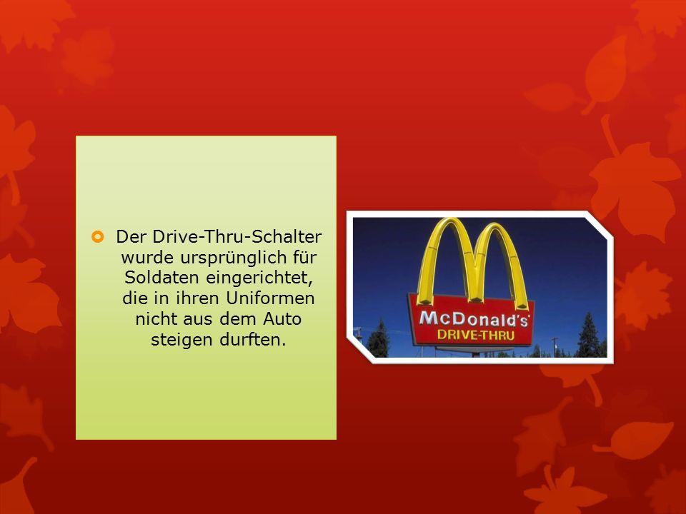  Für McDonald s ist es besser, wenn der Gast seine Essen mitnimmt, weil der Wirt dann nur sieben Prozent - statt 19 - Mehrwertsteuer abführen muss.