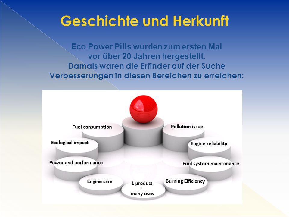 Eco Power Pills wurden zum ersten Mal vor über 20 Jahren hergestellt.