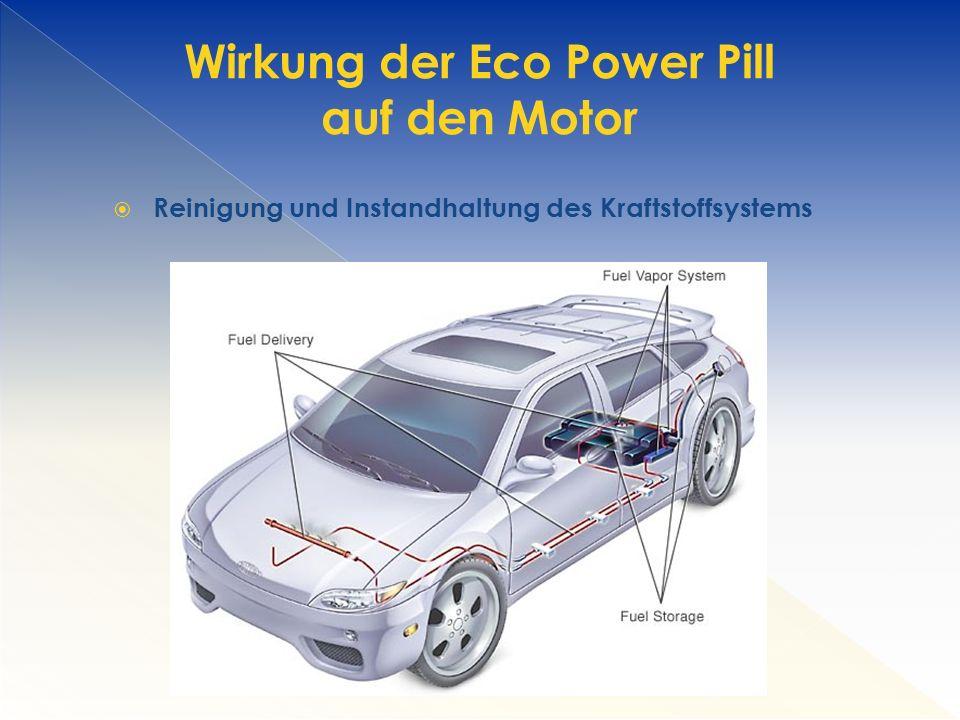  Reinigung und Instandhaltung des Kraftstoffsystems Wirkung der Eco Power Pill auf den Motor