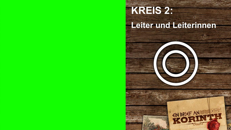 2 Kreise KREIS 2: Leiter und Leiterinnen