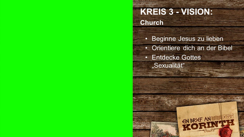"""Kreis 3 c KREIS 3 - VISION: Church Beginne Jesus zu lieben Orientiere dich an der Bibel Entdecke Gottes """"Sexualität"""
