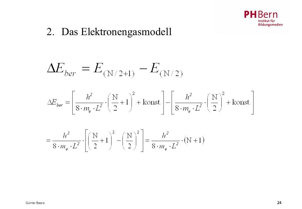 Günter Baars 24 2.Das Elektronengasmodell