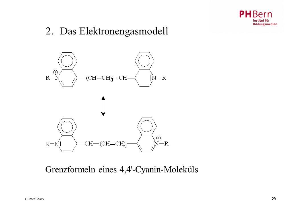 Günter Baars 29 2.Das Elektronengasmodell Grenzformeln eines 4,4'-Cyanin-Moleküls