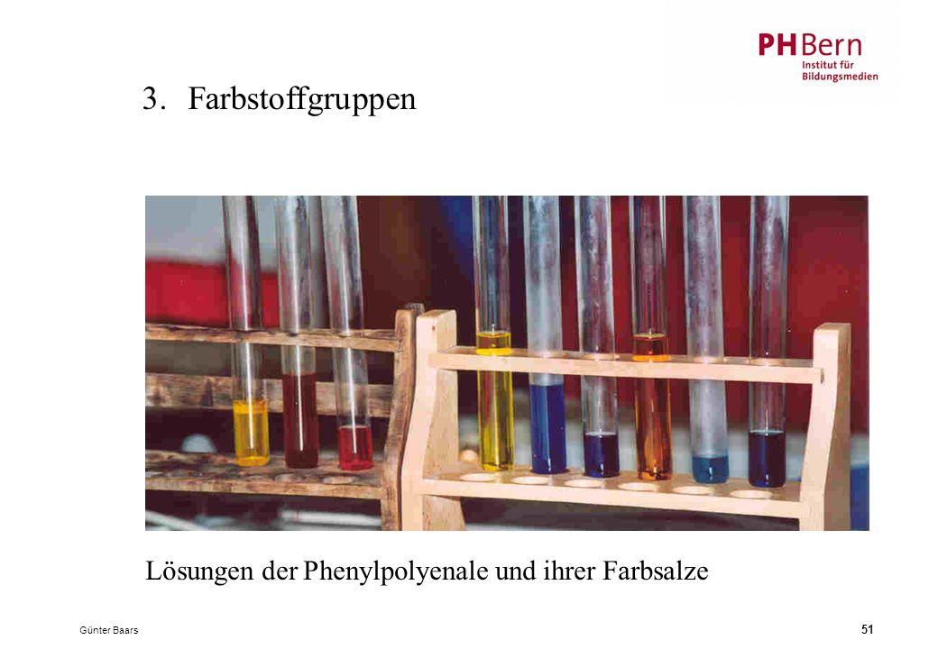 Günter Baars 51 3.Farbstoffgruppen Lösungen der Phenylpolyenale und ihrer Farbsalze