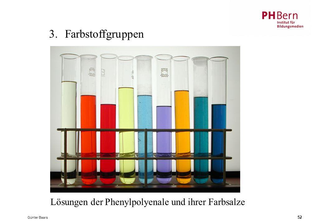 Günter Baars 52 3.Farbstoffgruppen Lösungen der Phenylpolyenale und ihrer Farbsalze