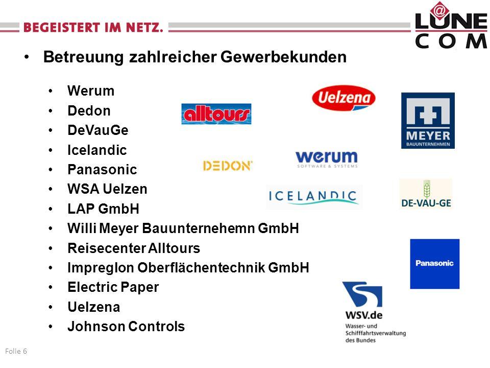 Betreuung kommunaler Kunden Betrieb der Weitverkehrsebene der Landkreisnetze Lüneburg und Lüchow-Dannenberg seit 1998 Bereitstellung von Netzleistungen im kommunalen Umfeld (IZN, Schulen, Stadt, Landkreis) Folie 7 Hochleistungsnetze Folie 7