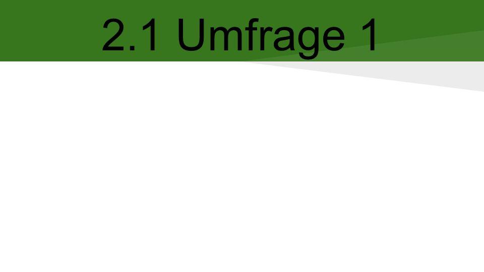 2.1 Umfrage 1