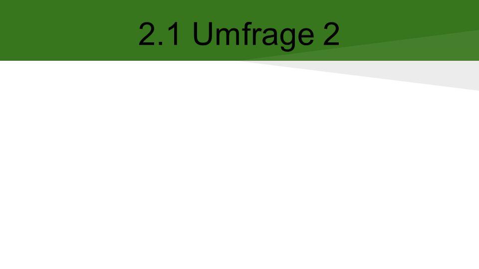 2.1 Umfrage 2