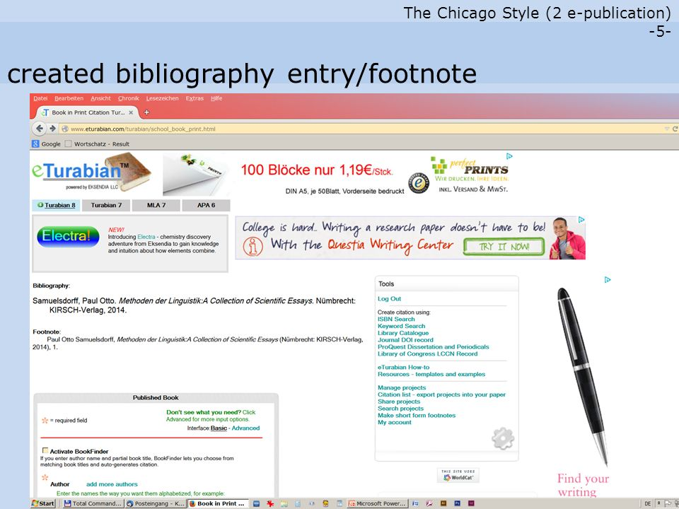 The Chicago Style (2 e-publication) -6- electronic publications