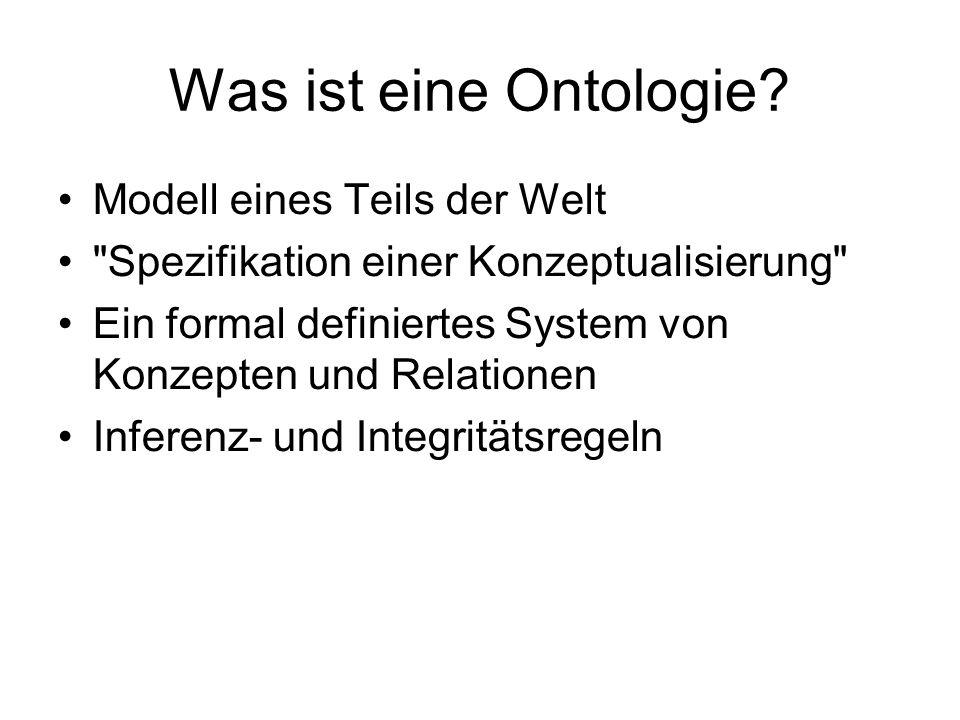 Was muss eine Ontologie umfassen.