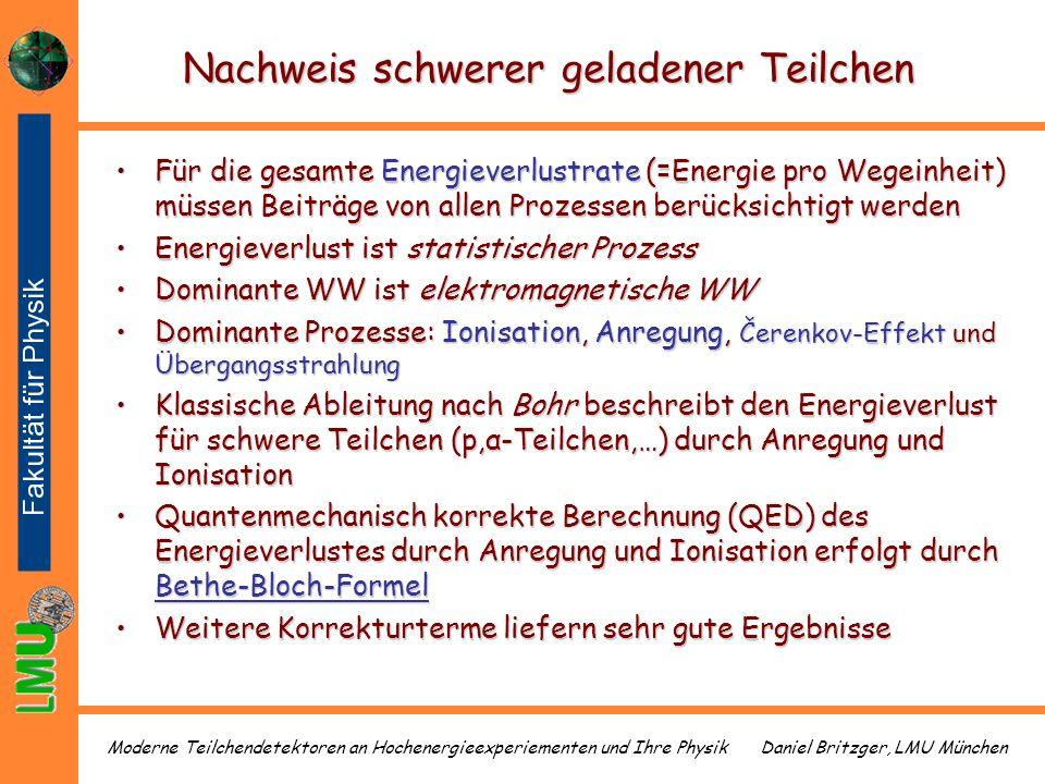 Daniel Britzger, LMU MünchenModerne Teilchendetektoren an Hochenergieexperiementen und Ihre Physik Nachweis schwerer geladener Teilchen Für die gesamt