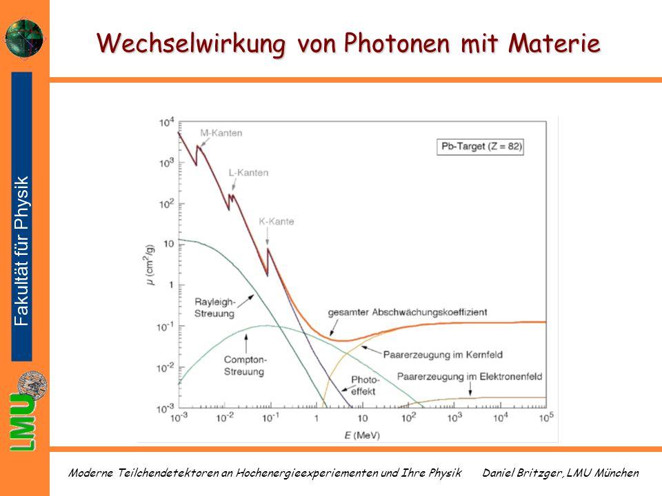 Daniel Britzger, LMU MünchenModerne Teilchendetektoren an Hochenergieexperiementen und Ihre Physik Wechselwirkung von Photonen mit Materie