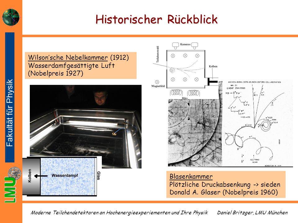 Daniel Britzger, LMU MünchenModerne Teilchendetektoren an Hochenergieexperiementen und Ihre Physik Historischer Rückblick Blasenkammer Plötzliche Druc