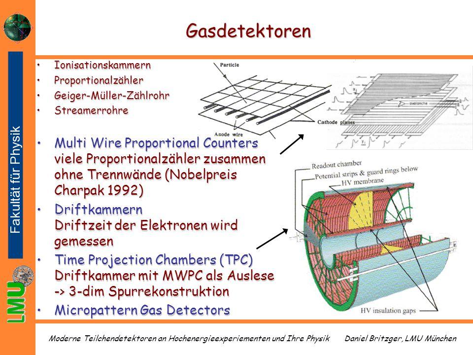 Daniel Britzger, LMU MünchenModerne Teilchendetektoren an Hochenergieexperiementen und Ihre Physik Gasdetektoren IonisationskammernIonisationskammern