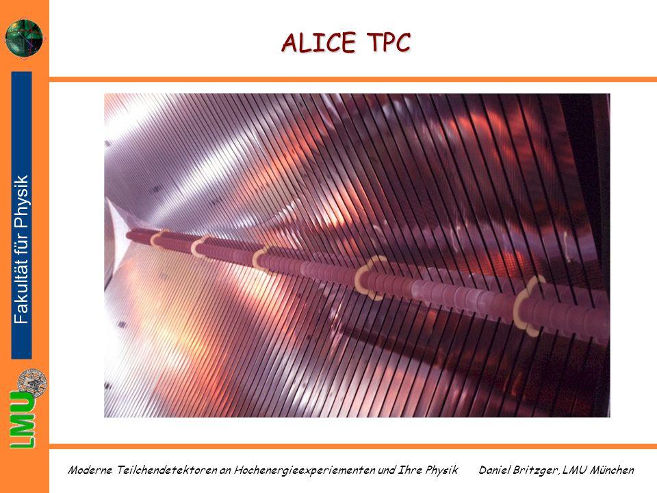 Daniel Britzger, LMU MünchenModerne Teilchendetektoren an Hochenergieexperiementen und Ihre Physik ALICE TPC
