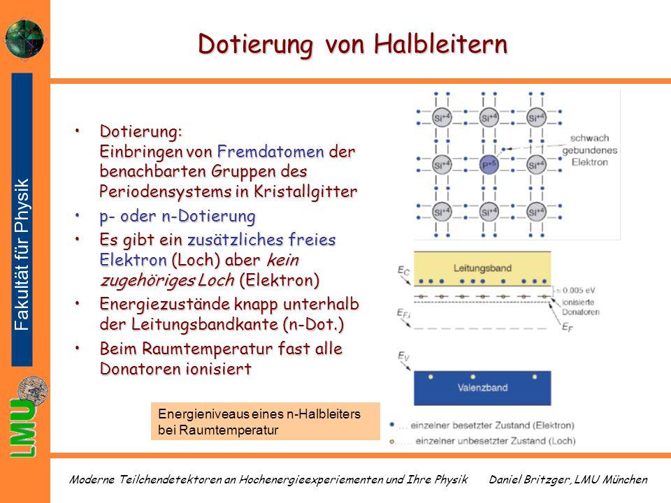 Daniel Britzger, LMU MünchenModerne Teilchendetektoren an Hochenergieexperiementen und Ihre Physik Dotierung von Halbleitern Dotierung: Einbringen von