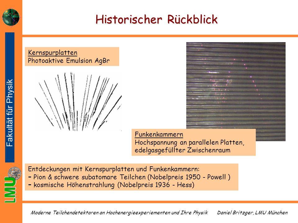Daniel Britzger, LMU MünchenModerne Teilchendetektoren an Hochenergieexperiementen und Ihre Physik Historischer Rückblick Kernspurplatten Photoaktive