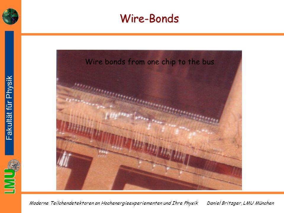 Daniel Britzger, LMU MünchenModerne Teilchendetektoren an Hochenergieexperiementen und Ihre Physik Wire-Bonds