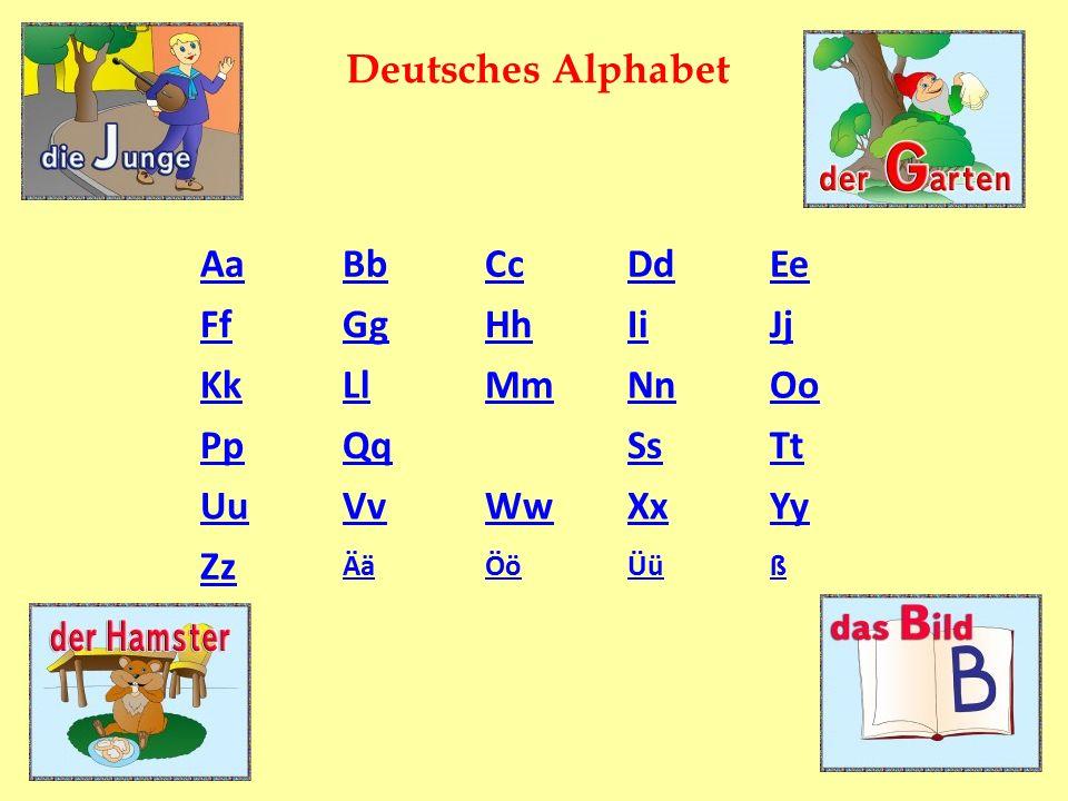 AaBbCcDdEe FfGgHhIiJj KkLlMmNnOo PpQqSsTt UuVvWwXxYy Zz ÄäÖöÜüß Deutsches Alphabet