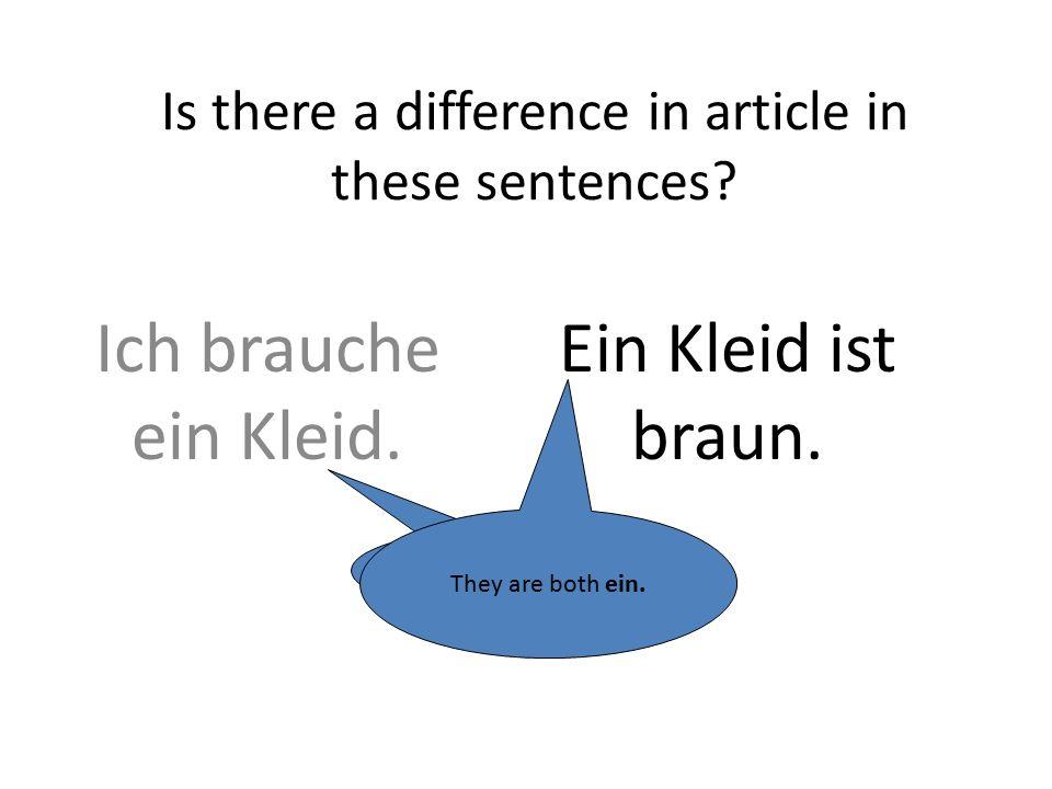 Words for a derdie (sg)dasdie (pl) Subject Nominative eineineein- direct object Accusative eineneineein-
