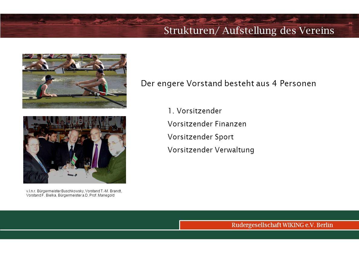 Rudergesellschaft WIKING e.V.Berlin Organigramm des Vereins 1.
