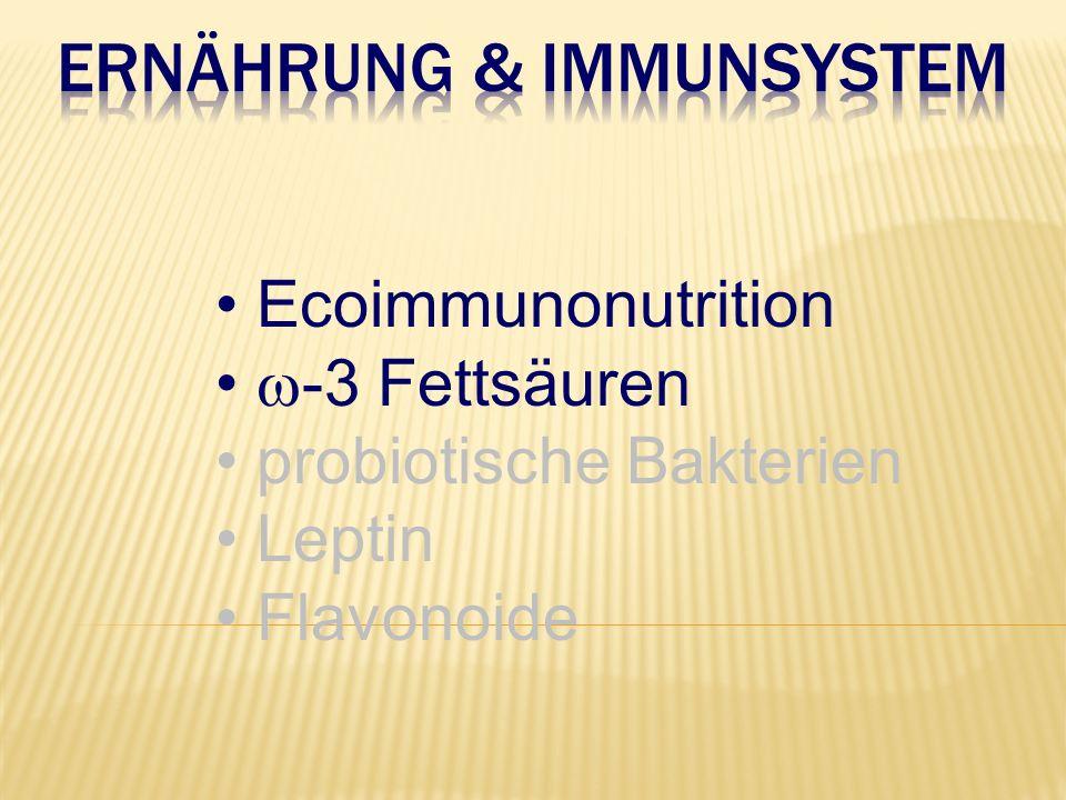 Ecoimmunonutrition  -3 Fettsäuren probiotische Bakterien Leptin Flavonoide