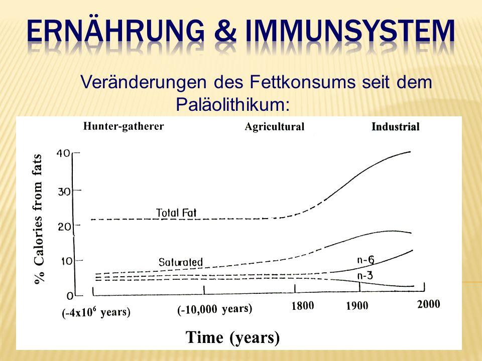 Veränderungen des Fettkonsums seit dem Paläolithikum: