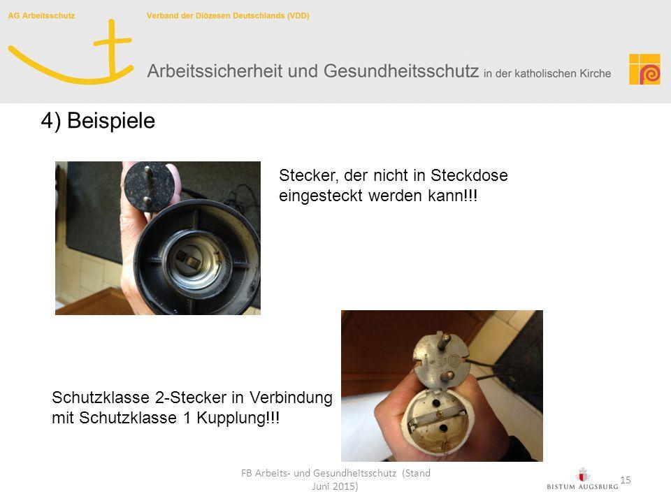 Stecker, der nicht in Steckdose eingesteckt werden kann!!! Schutzklasse 2-Stecker in Verbindung mit Schutzklasse 1 Kupplung!!! FB Arbeits- und Gesundh