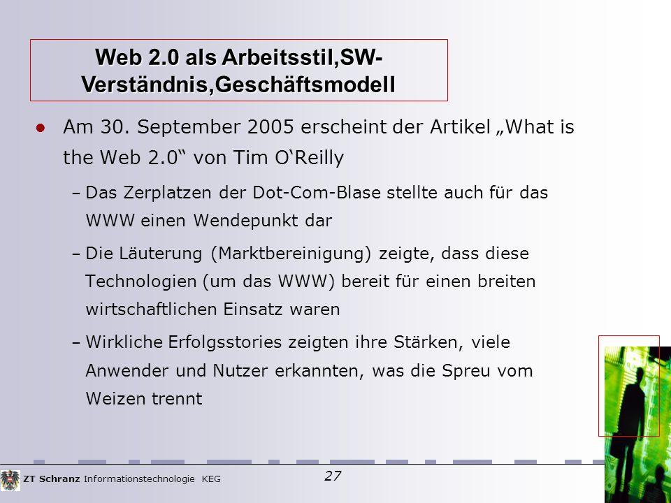 ZT Schranz Informationstechnologie KEG 27 Am 30.