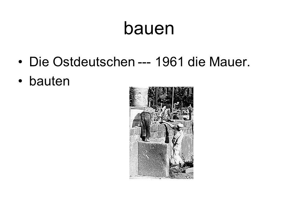 bauen Die Ostdeutschen --- 1961 die Mauer. bauten