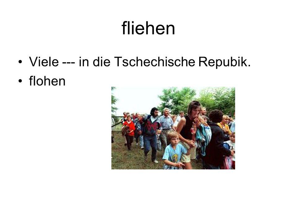 fliehen Viele --- in die Tschechische Repubik. flohen