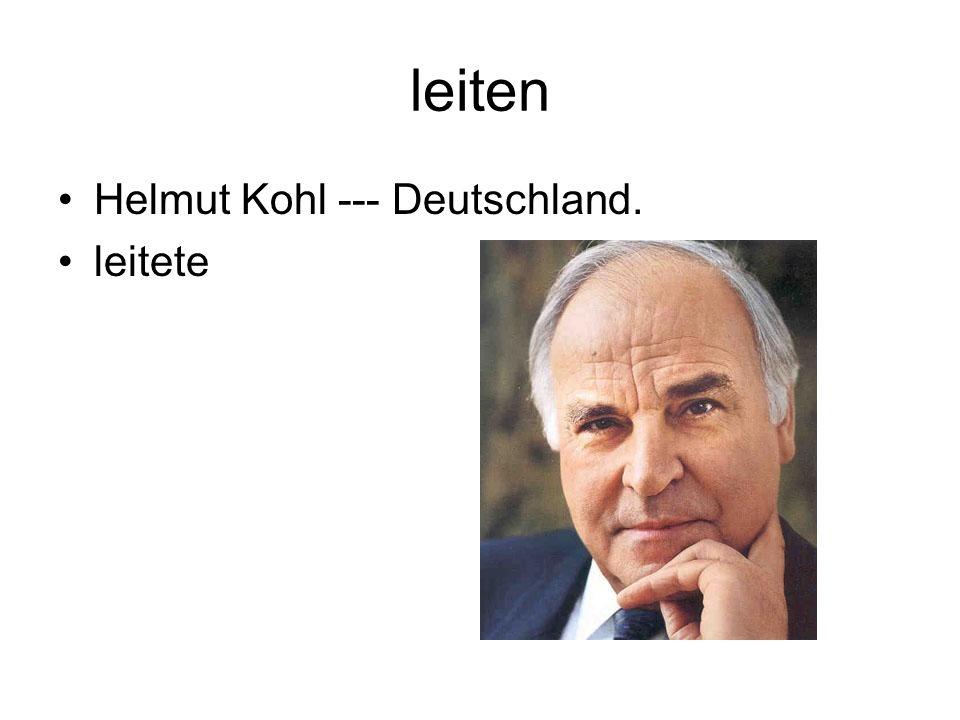 leiten Helmut Kohl --- Deutschland. leitete