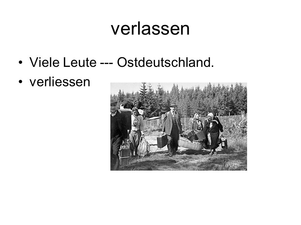 verlassen Viele Leute --- Ostdeutschland. verliessen