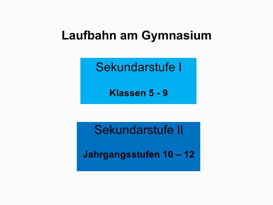 Sekundarstufe II Jahrgangsstufen 10 - 12 Jgst.10 = EF (Einführungsphase) Jgst.