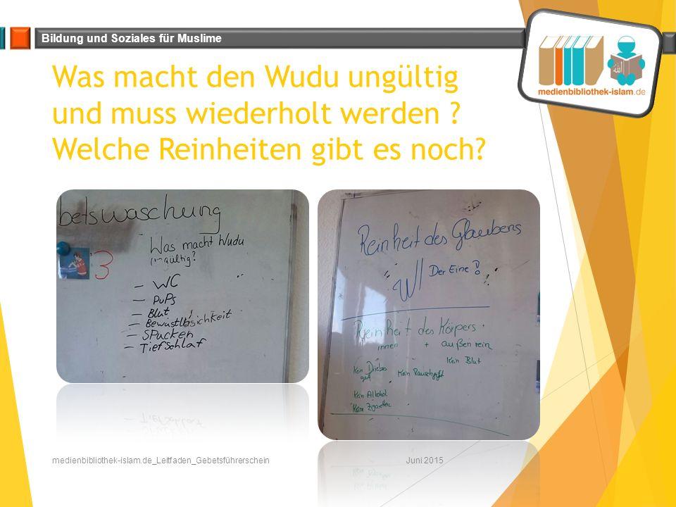 Bildung und Soziales für Muslime Der Wudu Zum Schluss dürfte eine Schülerin den ganzen Ablauf des Wudu vormachen.