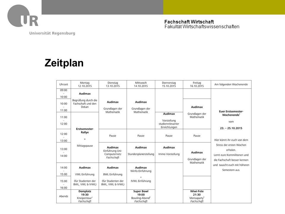 Fachschaft Wirtschaft Fakultät Wirtschaftswissenschaften Zeitplan