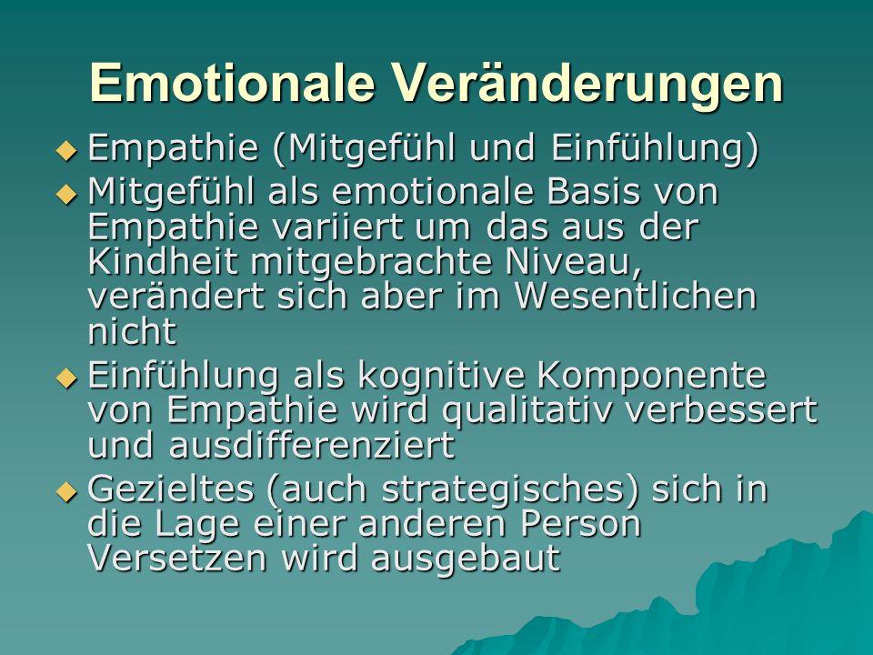 Sozial-kognitive Veränderungen  Ausdifferenzierung des Selbstkonzepts (Komponenten) – Aufbau und Ausbau der persönlichen Identität  Als Selbstkonzept bezeichnet man das Insgesamt der Kognitionen und Emotionen eines Menschen, die sich auf die eigene persönliche Identität zentrieren, also die Gedanken und Gefühle, die bei der Beantwortung der Frage »Wer bin ich?« entstehen.