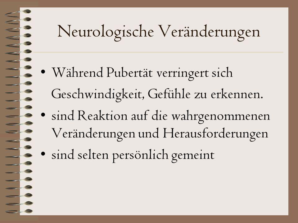 Neurologische Veränderungen Während Pubertät verringert sich Geschwindigkeit, Gefühle zu erkennen.