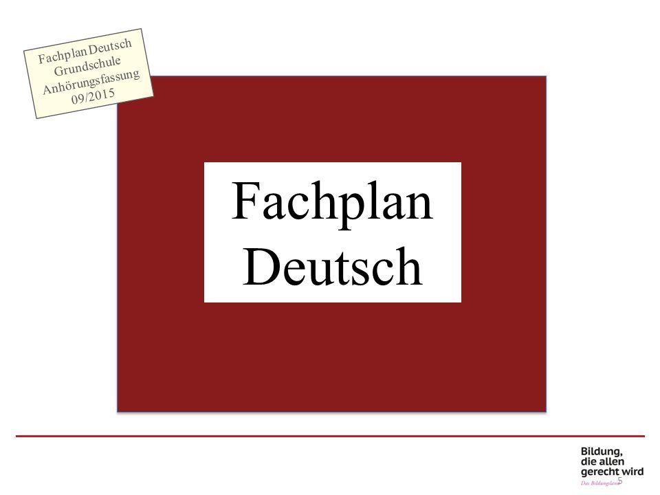 Fachplan Deutsch Grundschule Anhörungsfassung 09/2015 F= Hinweise auf andere inhaltsbezogene Kompetenzen anderer Fächer L = Hinweis auf eine Leitperspektive P = Hinweis auf prozessbezogene Kompetenzen