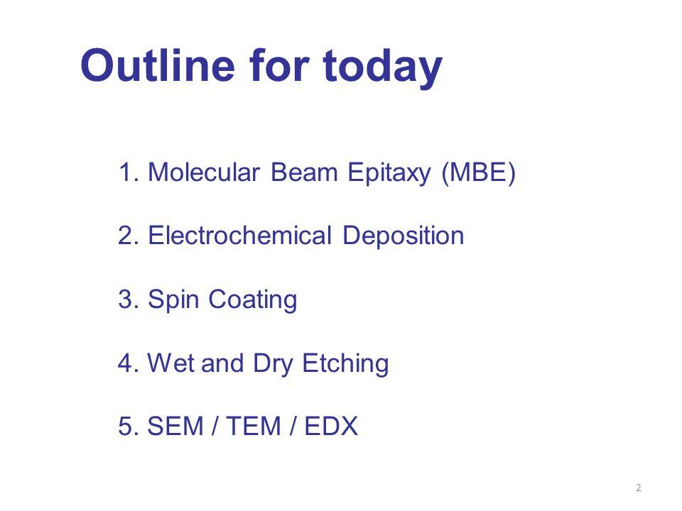 3 1. Molecular Beam Epitaxy -A kind of PVD -Ultra-High Vacuum (10 −8 Pa) -Single crystal deposition