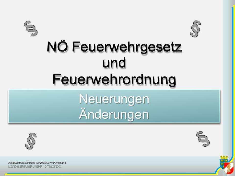 FeuerwehrordnungFeuerwehrordnung Schlussbestimmungen –Geschlechtsspezifische Bezeichnungen –Übergangs- und Schlussbestimmungen