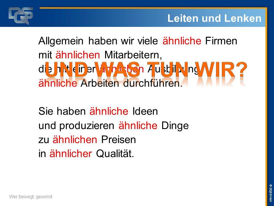 © DQS GmbH Allgemein haben wir viele ähnliche Firmen mit ähnlichen Mitarbeitern, die mit einer ähnlichen Ausbildung, ähnliche Arbeiten durchführen.